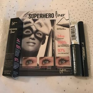 It Cosmetics Superhero Liner & Clinique Mascara